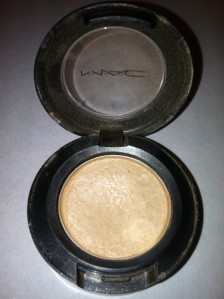 I used a MAC Frost eyeshadow in Ricepaper.